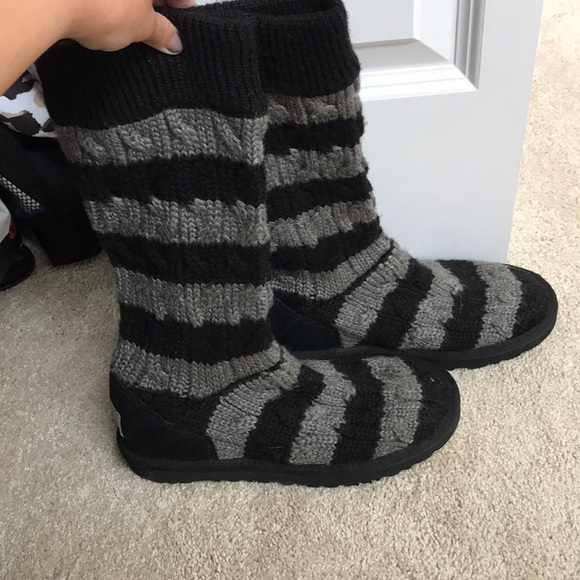 Ugg Shoes Cable Knit Boots Poshmark